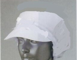 ! Same-day shipping ★ white food ★ white women circle hat with ( one-size-fits-all ) made in Japan