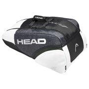 【9本収納】ヘッド(HEAD) ジョコビッチ 9R スーパーコンビ ラケットバッグ ブラックxホワイト 283019-BKWH【2018年8月登録】