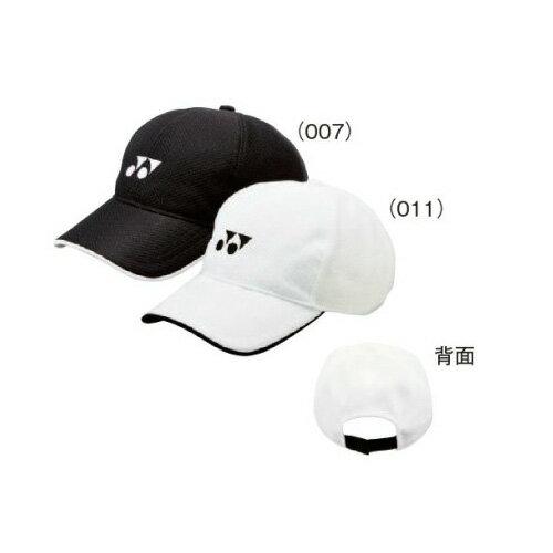 ヨネック(YONEX) ジュニア メッシュ キャップ(ブラック・ホワイト)40002J【テニスキャップ】