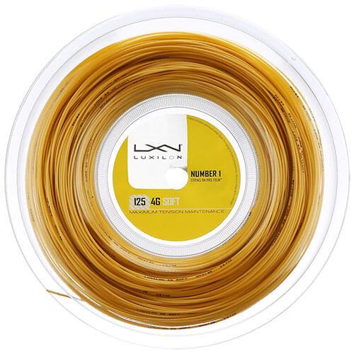 ルキシロン 4G ソフト(1.25mm) 200Mロール 硬式テニス ポリエステル ガット(Luxilon 4G Soft 200m String Reel)【2016年7月登録】