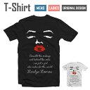 アパレル 半袖 Tシャツ S M L XL 送料無料 デザイン Tシャツ【Marilyn Face Design/フェイス デザイン】【Marilyn Monroe/マリリン モンロー/ホワイト/リップ/オシャレ/ファッション】【メール便送料無料 】