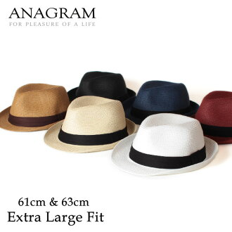 ■ ANAGRAM anagram ペーパーブレード Hat turu Hat straw hat straw hats mens Womens large size Hat XL61cm UV protection 130206 _ free fs3gm