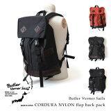 [6/27 23:59まで!ポイント10倍]【即納】Butler Verner Sails バトラーバーナーセイルズ コーデュラナイロン フラップ リュック リュックサック デイパック 本革付属 鞄 かばん カバン メンズ レディース