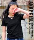 【50%OFF】VネックデザインTシャツ【アナップガール ANAP GiRL ガ...