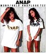 『ANAP』ロゴBIGTシャツ【アナップ/ANAP/レディース/トップス/F/ブラック/ブラック/ホワイト/ホワイト/ブラック/カーキ/Tシャツ/チュニック/半袖/ロゴ・プリント】