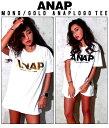 『ANAP』ロゴBIGTシャツ【アナップ ANAP レディース トップス ブラッ...