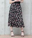 【30%OFF】前釦花柄スカート【アウリー AULI レディ