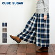 CUBE SUGAR ヘリンボン先染めタックギャザースカーチョ(4色)【キューブシュガー】【レディース】【送料無料】