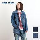 【2017年春新作】CUBE SUGAR 10.5ozデニム カバーオール(2色)【レディース】【キューブシュガー】【PL】【送料無料】