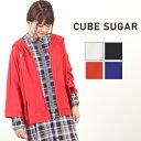 CUBE SUGAR 21/-天竺UVカットパーカー(4色)【レディース】【キューブシュガー】【TAG】【4U】