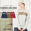 NEEDLEWORKS(ニードルワークス) 裏起毛 STANDARD SWEAT (4色)【レディース】【TAG】【トレーナー】【スウェット】【裏毛】【PL】