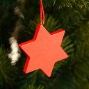 星のオーナメント(赤)【クリスマスオーナメント】