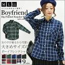 ●送料無料●ボーイフレンドBIGネルチェックレギュラーシャツ...