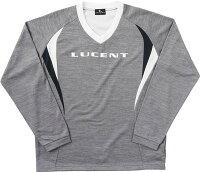 LUCENT(ルーセント) XLT1524 テニス ユニセックス ウォームアップトレーナー Vネック グレーモク 18SSの画像