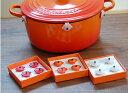 ル・クルーゼ プラスチック・ピン ココット・ダムール(4個入り)ルクルーゼ(鋳物 琺瑯)のお鍋をサビやキズから守ります。レビュー投稿のお約束でメール便送料無料♪プレゼント/ギフトに最適キッチン雑貨/鍋/ココットダムール/ハートの形