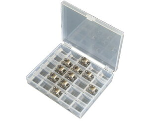 Bobbin box 25 months for outlet products useful for sewing machine bobbin storage & organizing