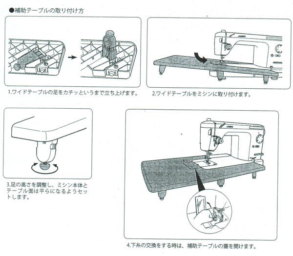 JUKI 職業用直線ミシン 『SPUR30』 補助テーブル付 …