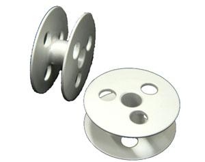 Bobbin ( for comprehensive feed sewing machine, with a three hole ) dimensions: diameter 28 * width 11 mm