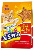 【期間限定】日本ペット ミオおいしくって毛玉対応 フィッシュミックス味 2.7kg