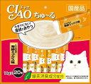 【期間限定】いなば CIAOちゅ〜る とりささみ 海鮮ミックス味 20本入り(14gx20本) SC-128