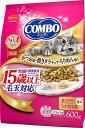 日本ペット コンボキャット 毛玉対応 15歳以上 かつお味 焼きタラチップ ちりめん添え 600g