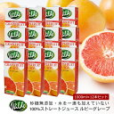 送料無料 砂糖 水を一滴も加えていない無添加 Wild ワイルド ルビーグレープフルーツジュース 1000ml×12本セット