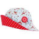 SSHAT【Oobi】【メール便ゆうパケット150円】みんな大好きいちご柄!春夏帽子Ava Sunhat(Blue Strawbery)