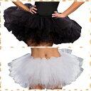 ショッピングペチコート コスチューの裾のボリュームアップに!ペチコート ブラック・ホワイト/DreamGirl/ドリームガール