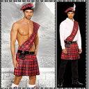 【送料無料】スコットランドの民族衣装のキルト コスチューム(ハロウィン/衣装/セクシー/SEXY/コスプレ/パーティー/Halloween/大人用/メンズ/男性用)【コンビニ受取対応商品】