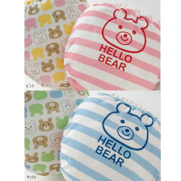 ベビー4層吊り式タイプクマさんトレーニングパンツ2枚組ベビー/赤ちゃん/パンツ/4層タイプ/2枚組