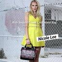 6ヶ月間保証付ニコールリー専門店 nicole leeバッグ&財布トップクラスの品ぞろえ! ニコルリー スパンコール 大人可愛い ハンドバッグ クリスマスプレゼントにも