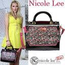 6ヶ月間保証付ニコールリー専門店 nicole leeバッグ&財布トップクラスの品ぞろえ! ニコルリー スパンコール大人可愛いハンドバッグ