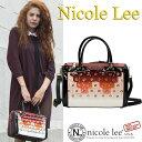 6ヶ月間保証付ニコールリー専門店 nicole leeバッグ&財布トップクラスの品ぞろえ! ニコルリー かっこいいエナメルフリンジボストンバッグ