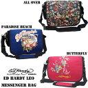 エドハーディー ロングセラー! Ed Hardy Leo Paradise Beach All Over Butterfly Messenger Bag(エドハーディータグ付き Ed Har..