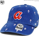 47 Brand キャップ ブレーブス 総柄 BRAVES COOPERSTOWN '47 CLEAN UP バックベルト ストラップバック あす楽/