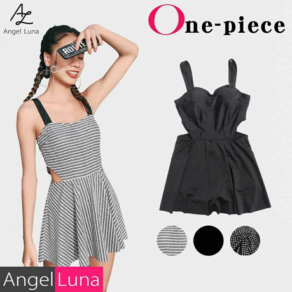Angel Luna|【新色追加】水着 体型カバー 大きいサイズ レディース ワンピース 一体型 オール...