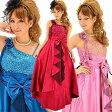 【あす楽対応】[パーティードレス スパンコール]6043 胸元スパン上質サテン姫ドレス