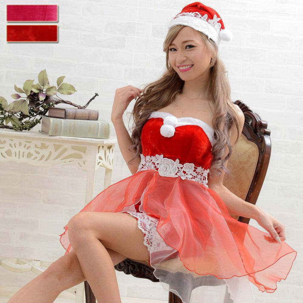 サンタ衣装コスチューム≪DressAngelo≫あす楽コスプレサンタコスプレドレスキャバナイトドレス