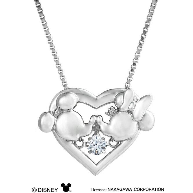 【Heart Kiss】ダンシングストーンネックレス ディズニーコレクション SV925