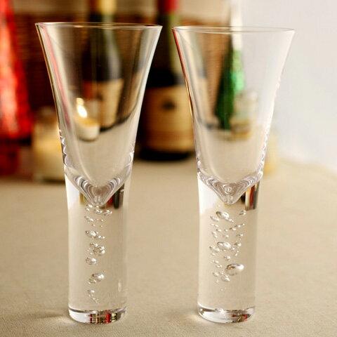 Sghr 3 types of bubbles シャンパングラス ペア ギフトボックス入り/スガハラ【送料無料】