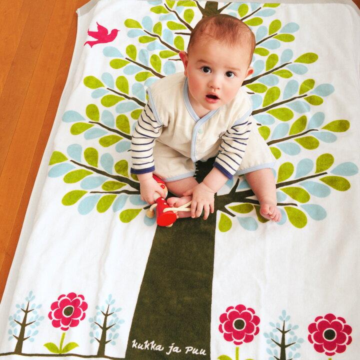 kukka ja puu 身長計付き タオルケット