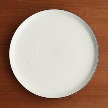 白磁千段(はくじせんだん) 5号 平皿