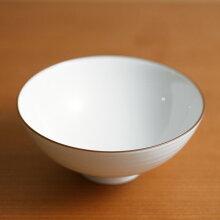 白磁千段(はくじせんだん) 4寸飯碗