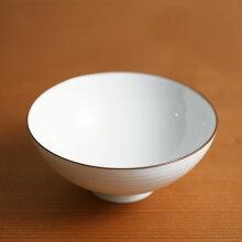 白磁千段(はくじせんだん) 3.5寸飯碗