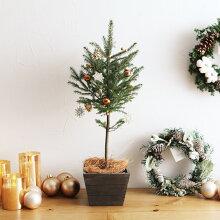 クリスマス ミニツリー(オーナメント付き) S