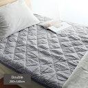 夏用寝具 フレンチリネン100% 敷きパッド ダブル/夏寝具/mofua natural