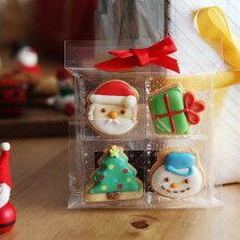 クリスマス アイシングクッキー 4個入り