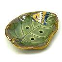 バリ タバナン ソープ ディッシュ 石鹸 ケース トレイ 陶器 ガラス 魚 グリーン アジアン バリ タイ 雑貨 アジアン インテリア