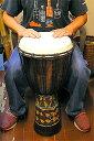【送料無料】アジアの楽器ジャンベ[太鼓]H.70cmドットペイントブラウン【アジアン雑貨 バリ 雑貨 タイ雑貨 アジアンインテリア】10P03Dec16