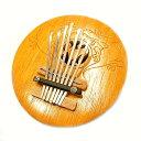 ココナッツのカリンバ 木彫りの トカゲ模様 S 直径約20cm【アジアン雑貨 バリ 雑貨 タイ雑貨】10P03Dec16